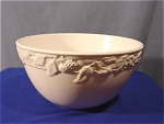 <b>Large white ceramic mixing bowl made in Portugal.   Embossed grape & vine design on outer rim of bowl.    Bowl measures: 10 inches across and 5.5 inches tall.   Marked on bottom: The Cellar Made in Portugal Exclusively for FPD c. 1996 FPD New York, NY 10001  This bowl was made exclusively for Macy's. The FPD represents the Macy's located at: 11 Penn Plaza New York, NY 10001