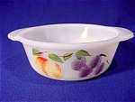 <b>Hand painted 'Fruits' on Anchor Hocking white casserole dish, 1 pint.  Tab handles. 