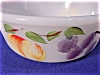 Click to view larger image of Anchor Hocking Hand Painted Fruits on Round  White Casserole Dish. by Fire King (Image2)