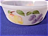 Click to view larger image of Anchor Hocking Hand Painted Fruits on Round  White Casserole Dish. by Fire King (Image3)