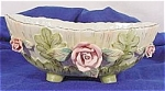 Click here to enlarge image and see more about item 413: Lefton Bisque Decorated Bowl w/Pink Roses