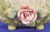 Click to view larger image of Lefton Bisque Decorated Bowl w/Pink Roses (Image5)