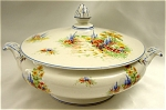Click here to enlarge image and see more about item 140: Vintage Palissy Garden Motif Tureen
