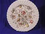 Beautiful BOUQUET dinner plate.  Johnson Brothers Staffordshire Bouquet is made in England.  Scalloped edging. 10 inch in diameter.  Makers mark is in brown ink.