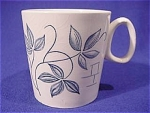 Click here to enlarge image and see more about item 152: White with Blue Leaves English Teacup