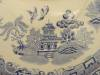 Click to view larger image of Vintage Empire England Blue and White Old Willow Covered Tureen (Image3)
