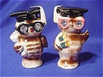 Click here to enlarge image and see more about item 202: 1956 Lefton Owls Salt & Pepper Shakers