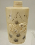 Click to view larger image of Vintage Hand Carved Bone Snuff Bottle (Image1)