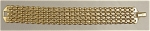 Click here to enlarge image and see more about item 215: Napier's 7.25 in. Golden Mesh Bracelet