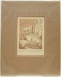 Click here to enlarge image and see more about item 217: 'W. Goodkitty' Signed Etching by Real Musgrave  No. 107/150