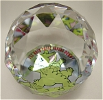 German Crystal Pocket Dragon Paper Weight by R. Musgrave
