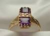 Click to view larger image of 1920s Amethyst and Seed Pearl 14K Ring (Image3)