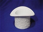 Click here to enlarge image and see more about item 449: Fenton Daisy Button Milk Glass Top Hat