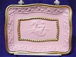 <b>Color: Pink w/gold trim 