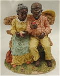 Click here to enlarge image and see more about item 466:  'A Moment Together'  Couple Figurine