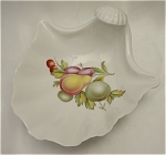 Click here to enlarge image and see more about item 262: Spode Shell Dish / Bowl With Fruit Motif