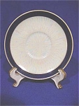 <b>Colors: Royal blue, iridescent white/cream and gold.  Saucer has a starburst pattern of iridescent white/cream with royal blue outer band.  Trimmed in gold.  Unmarked