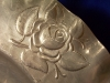 Click to view larger image of Shallow Aluminum Bowl with Roses (Image3)