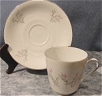 <b>Pattern: Unknown Number: 40 Colors: Gray and Pink w/silver trim Maker: Winterling  Made in Bavaria Germany Silver stamp on bottom of cup and saucer  Minor silver wear