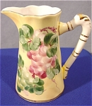 Click here to enlarge image and see more about item 307: Hand Painted Limoges Style Pitcher