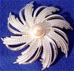 Click here to enlarge image and see more about item 311: Sarah Cov. Swirl Broach