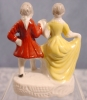 Click to view larger image of Dancing Pair Figurine - Occupied Japan (Image4)