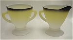 Click here to enlarge image and see more about item 331: Hazel-Atlas Ovide Open Sugar And Creamer Set