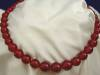 Click to view larger image of Vintage Red Bakelite Beaded Necklace (Image2)