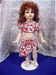 Click here to enlarge image and see more about item 356: HAWAIIAN GIRL 19 Inch Porcelain Doll