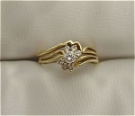 Beautiful 14K Yellow Gold Diamond Wedding Set