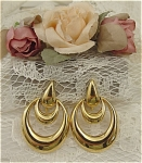 <b>Stunning golden earrings with a screwback fastner.  Napier is stamped on each earring.