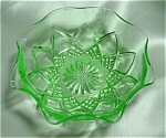 <b>The first colored tableware (other than opal, which Hazel Atlas had from the beginning) was green made in 1929. The line of new color tableware and kitchenware was considered &quot;Modernistic.&quot; 