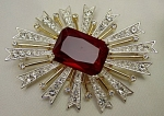 Click here to enlarge image and see more about item 393: Kenneth Jay Lane (KJL) Starburst Brooch