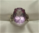 Click here to enlarge image and see more about item 394: 1920s Art Deco Sterling Silver Amethyst Ring