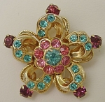 Click here to enlarge image and see more about item 397: Vintage Coro Five Point Brooch