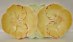 Click here to enlarge image and see more about item 399: Vintage 1930s Double Pansy Tidbit Dish by Beswick Ware