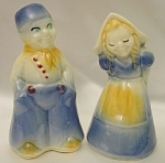 Click here to enlarge image and see more about item 404: Vintage Shawnee Dutch Kids Salt and Pepper Shakers