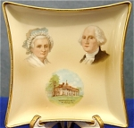 Click here to enlarge image and see more about item 484: George & Martha Washinton French Limoges Tray/Dish