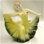 Click here to enlarge image and see more about item 539: 1940s Woman Dancing the Night Away Planter