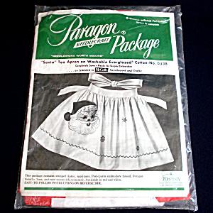 Christmas Santa Apron 1950s Paragon Needlecraft Kit (Image1)
