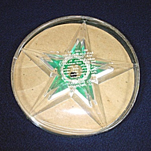 Glo Star Lucite Christmas Tree Topper Mint In Box