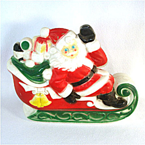 Empire Santa Claus on Sleigh Plastic Blow Mold Display Figure (Image1)