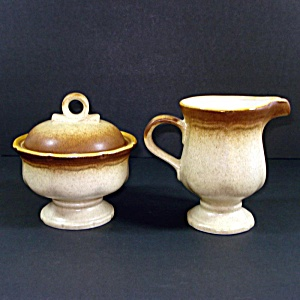 Mikasa Whole Wheat Creamer Sugar Set