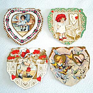 4 Whitney 1920s Die Cut Valentine Cards (Image1)