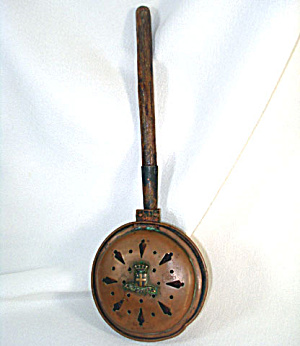 Antique French Copper Chestnut Roasting Pan (Image1)