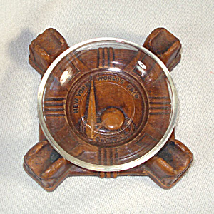 1939 New York Worlds Fair Syroco Wood Ashtray