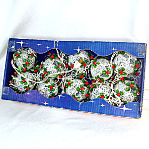 Noma Filigree Ball Fancy Christmas Light Set In Original Box (Image1)