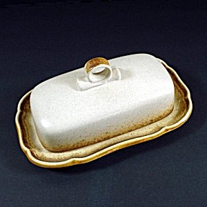 Mikasa Whole Wheat Covered Butter Dish