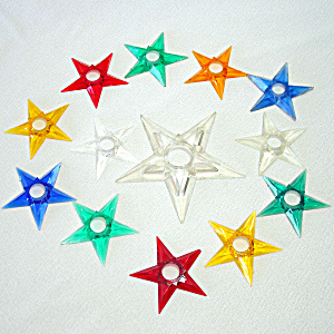 12 Glo Star Lucite Christmas Star Light Reflectors