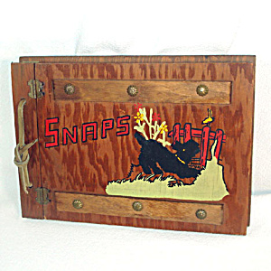 Scotty Dog Painted Wood Photo Album (Image1)